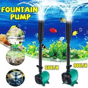 14W Submersible Pump Aquarium Fish Pond Filter Pump Fountain Aquarium Spray Head