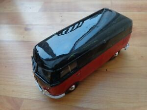 1/24 MOTOR MAX CLASSIC - VW VOLKSWAGEN TYPE 2 T1 PICK UP VAN RED/BLACK USED