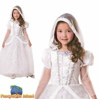 Snow Queen White Fairytale Princess Winter Xmas Girls Childs Fancy Dress Costume