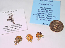 & 1 Angel Coin New Mint 4 Angel Lapel Hat Whatever Pins