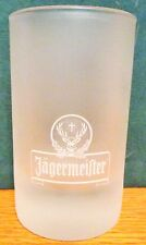 "JAGERMEISTER   3 1/2"" TALL   FROSTED SHOT GLASS"