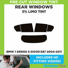 BMW 1 SERIES E87 5-DOOR 2004-2011 5% LIMO REAR PRE CUT WINDOW TINT