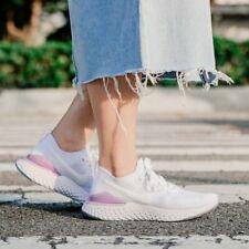 Nike Womens Epic React Flyknit 2 Lightweight Running Shoe White Pink US 5.5