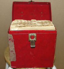 Lot of 48 Collection Records Music Songs Set List w/ Red Box Antique Bid Auction