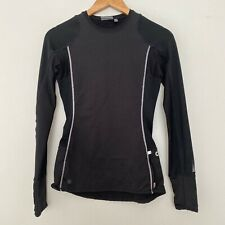 Athleta XXS Running Reflective Long Sleeve Athletic Top Shirt Black
