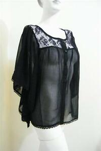LADIES  BLACK SIZE 10  SEXY LACEY BLACK TOP NEW WITH TAGS SIZE M