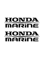 (2) Honda Marine Decals BLACK Sticker boat fish ski outboard aquatrax jetski