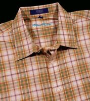 Alan Flusser Plaid Shirt Size XL Men's
