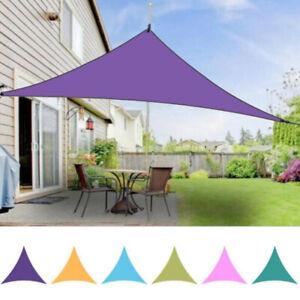 Sun Shade Sail Top Canopy Patio Pool Triangle UV Block Cover Awning Waterproof