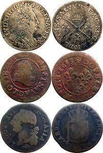 THREE (3) FRENCH COINS USED IN NORTH AMERICA - ALL FOUND IN CANADA, SILVER TOO!!