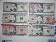 MARILYN MANSON Blood MONEY lot of 6 bills dollar 666 slipknot tour 2016 Nashvill