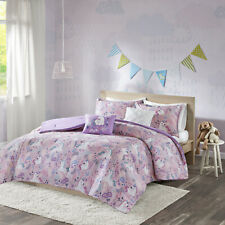 Kids Printed Comforter Set Laila Cotton Hypoallergenic Full/Queen Size Pink New