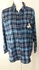 Disney & Co Collection exclusive forever 21 shirt Women's L Plaid long Sleeve