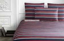 SONIA RYKIEL Rue SAINT GUILLAUME POPPY RED 5pc QUEEN DUVET RED WHITE BLUE USA