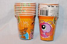 NEW IN PACKAGE LITTLEST PET SHOP 8 PAPER CUPS  PARTY SUPPLIES
