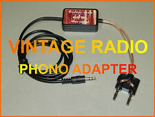 VINTAGE RADIO TUBE  MP3  ADAPTER IPOD IPHONE SMARTPHONE GRUNDIG  PHILIPS ETC