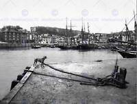 PADSTOW QUAY CORNWALL ENGLAND VINTAGE HISTORY OLD BW PHOTO PRINT POSTER 1508BWB