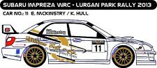 DECALS 1/43 SUBARU IMPREZA WRC #11- MCKINSTRY - RALLYE LURGAN PARK 2013 - D43229