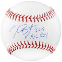 KRIS BRYANT Autographed Chicago Cubs 2015 NL ROY Inscribed Baseball FANATICS
