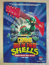 Teenage Mutant Ninja Turtles Coming Out of Their Shells Tour 1990-91 Program