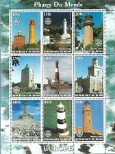 Benin Mnh S/S European Lighthouses Year 2003