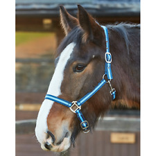 Firefoot Sporty Headcollar and Leadrope Set, Cob Size, Navy/Blue