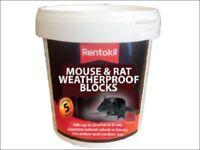 Rentokil Rat & Mouse Killer Poison Weatherproof Blocks Pot of 5 or 10 Blocks