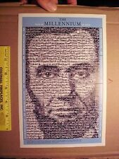 Photomosaic representation of the face of Abraham Lincoln Togolaise stamp sheet
