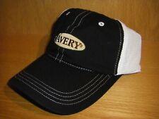 Avery Logo Greenhead Gear GHG Black & White Trucker Hat Cap Blind Mesh Back