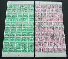 DDR ROLLENMARKEN 1868 1869 v R UNZERTRENNTE BOGENTEILE ! 20 x 5er Streifen z1559