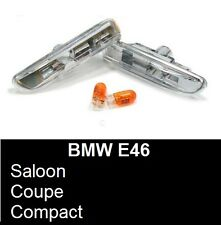 BMW 3 SERIES E46 COUPE SALOON COMPACT CONVERTIBLE CRYSTAL CLEAR SIDE REPEATERS