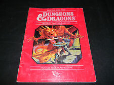 DUNGEONS & DRAGONS MASTERS RULEBOOK  D&D GAME GUIDE TSR MANUAL DMS