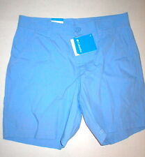 NWT Mens Columbia Shorts 32 X 8 Light Blue Hiking Casual Office Outing Golf New