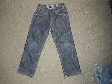 "Premium Relaxed Jeans Waist 22"" Leg 18"" Faded Dark Blue Boys Age 6Yrs Jeans"