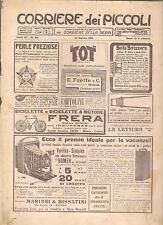 CORRIERE DEI PICCOLI 13 AGOSTO  1911 anno III NUMERO 33 CON SOVRACOPERTINA