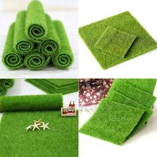 2 Size Artificial Grass Fake Lawn Grass Miniature Dollhouse Home Garden Ornament