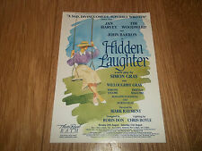 "THEATRE ROYAL BATH "" HIDDEN LAUGHTER "" ORIGINAL HANDBILL TIM WOODWARD JAN HARVEY"