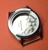 GENTS STAINLESS STEEL VINTAGE WATCH CASE- FIT MOVEMENTS UP TO  23.6mm -  NOS