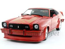GREENLIGHT 12879 1978 FORD MUSTANG II KING COBRA 1/18 DIECAST RED WITH GOLD