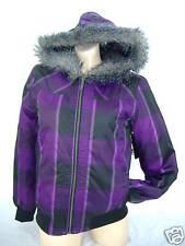 New Junior Womens O'neill Oneill Medium Fur Hoody Snow Jacket $60