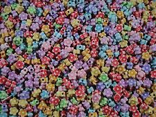 Beads Flower Shaped Mix 25g Craft Jewellery Spacer Party Kids FREE POSTAGE