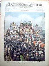 181) 1933 CARNEVALE DI VIAREGGIO E INCIDENTE A IMPERIA DOMENICA DEL CORRIERE