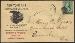 U.S. 1881 ADVERTISING NEW YORK LIFE INSURANCE CO. COVER