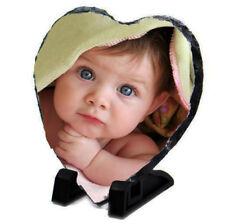 Personalised Love Heart Photo Slate, Customise with any image, Wedding Baby Gift