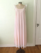 New listing Vintage Blush Pink Claire Sandra Lucie Ann Nightgown Nylon Small Sm Eyelash Lace