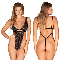 OBSESSIVE Figurea Luxury Super Soft Boned Lace String Body / Teddy