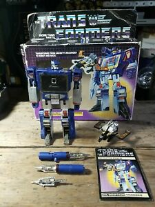 Vintage 1984 G1 Transformers Soundwave & Buzzsaw Complete with Box & Instruction