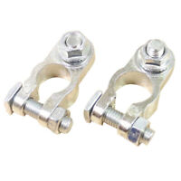 2Pcs Universal Car Battery Cable Terminal Connector Holder Post Clamp Clips