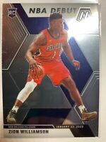 2019 2020 Panini Mosaic Zion Williamson NBA Debut Rookie Card # 269