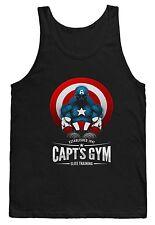 Gimnasio Camiseta Chaleco Capitán América Superhéroe Entrenamiento con Pesas Fuerza MMA